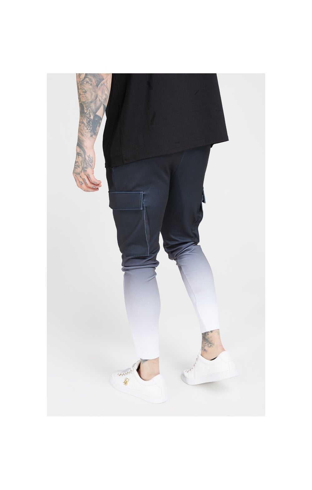 Load image into Gallery viewer, SikSilk Poly Athlete Cargo Pants - Black & White (3)