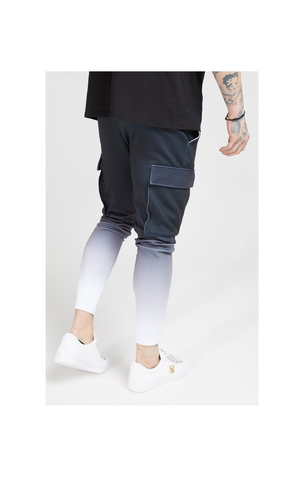 Load image into Gallery viewer, SikSilk Poly Athlete Cargo Pants - Black & White (4)
