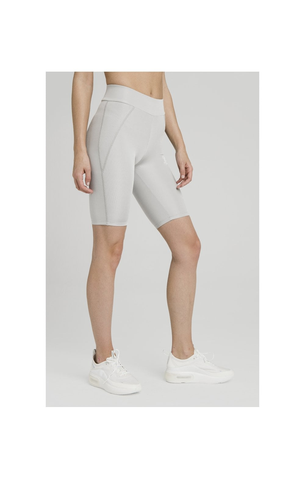 SikSilk Disco Cycle Shorts – Silver (2)