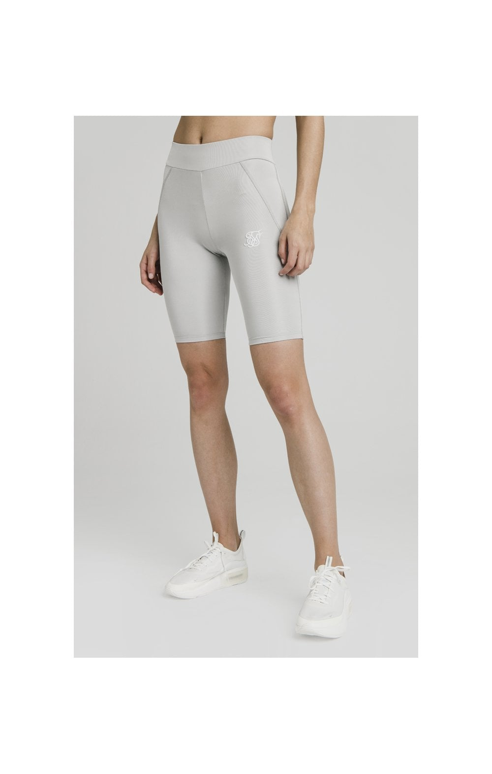 SikSilk Disco Cycle Shorts – Silver (3)