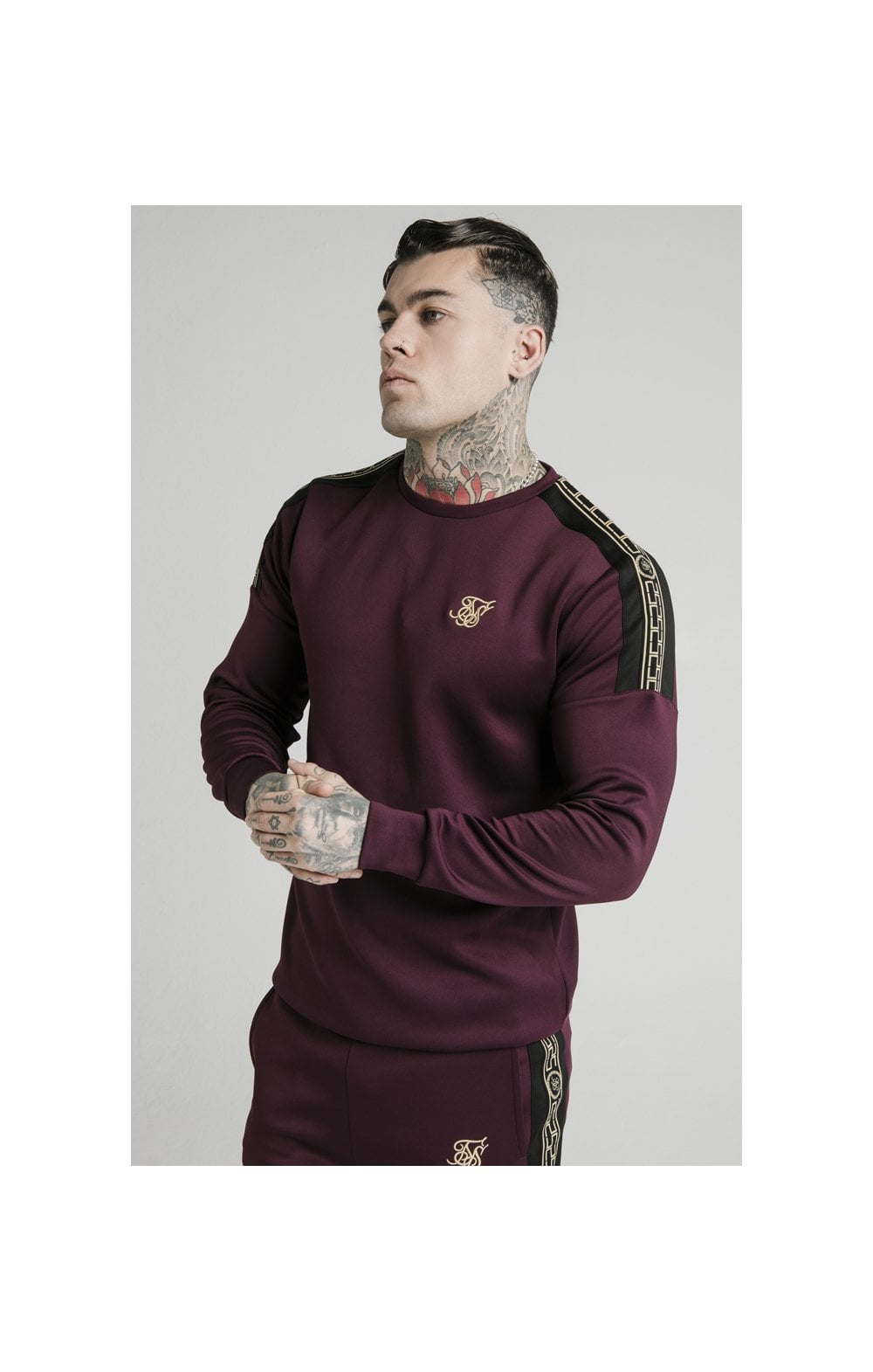 SikSilk Cartel Sweater - Burgundy