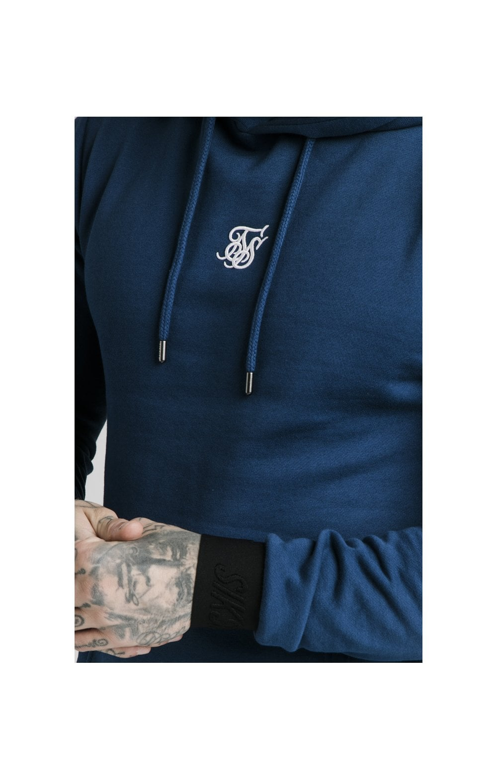 Load image into Gallery viewer, SikSilk Taped Overhead Hoodie – Marine