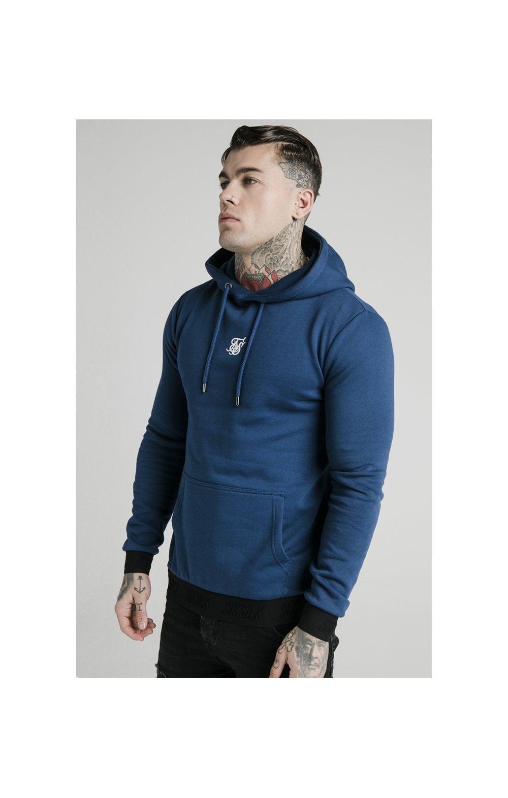 Load image into Gallery viewer, SikSilk Taped Overhead Hoodie – Marine (1)