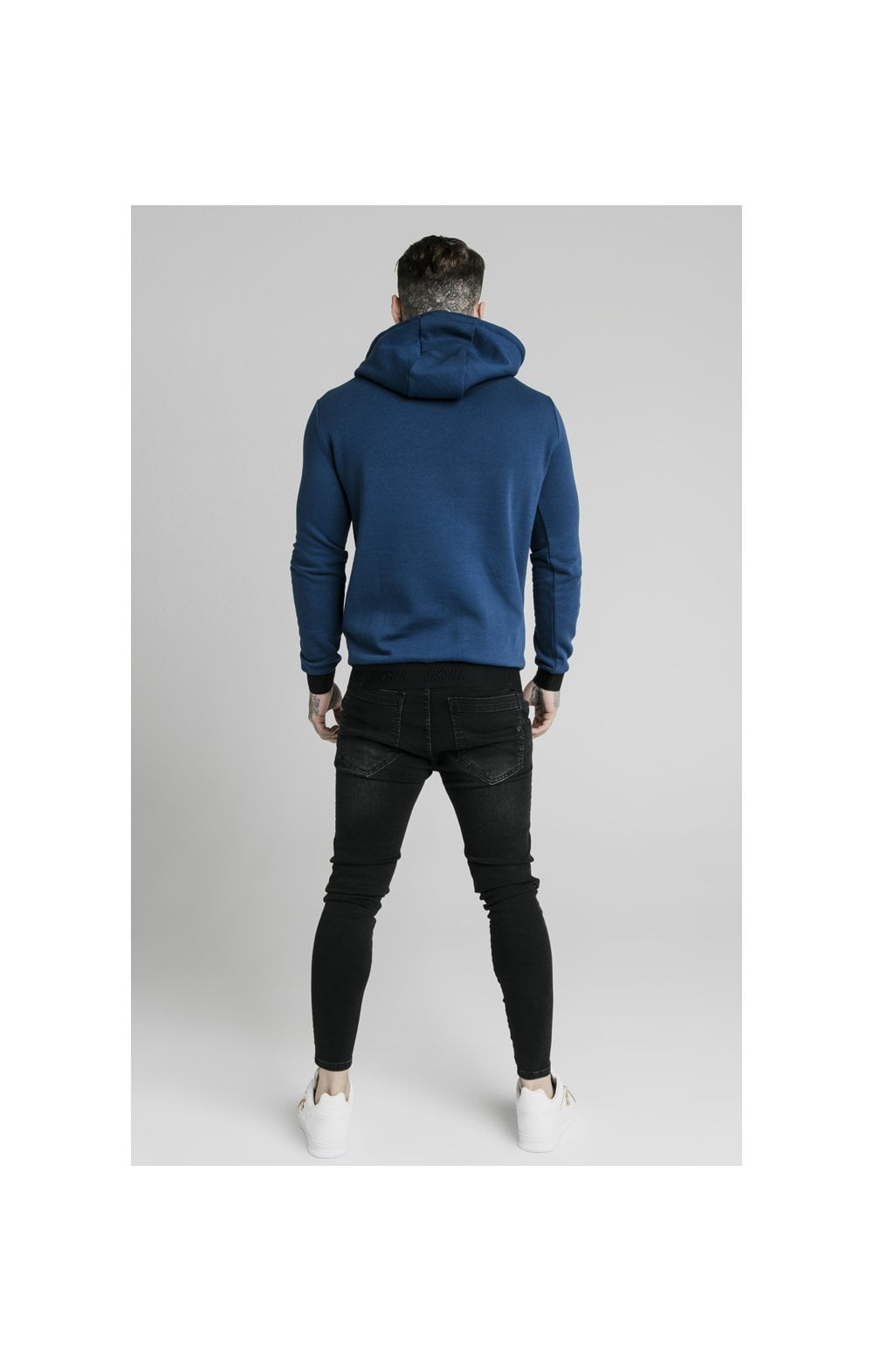 Load image into Gallery viewer, SikSilk Taped Overhead Hoodie – Marine (5)