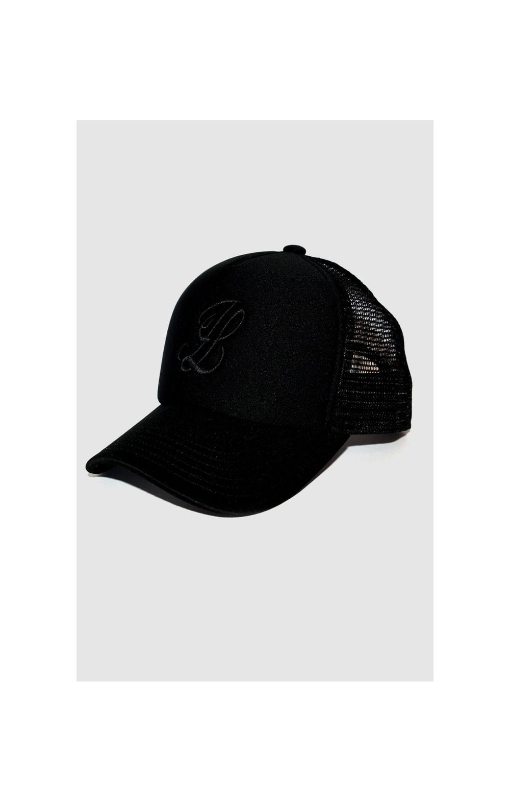 Load image into Gallery viewer, Illusive London Bent Peak Trucker - Black