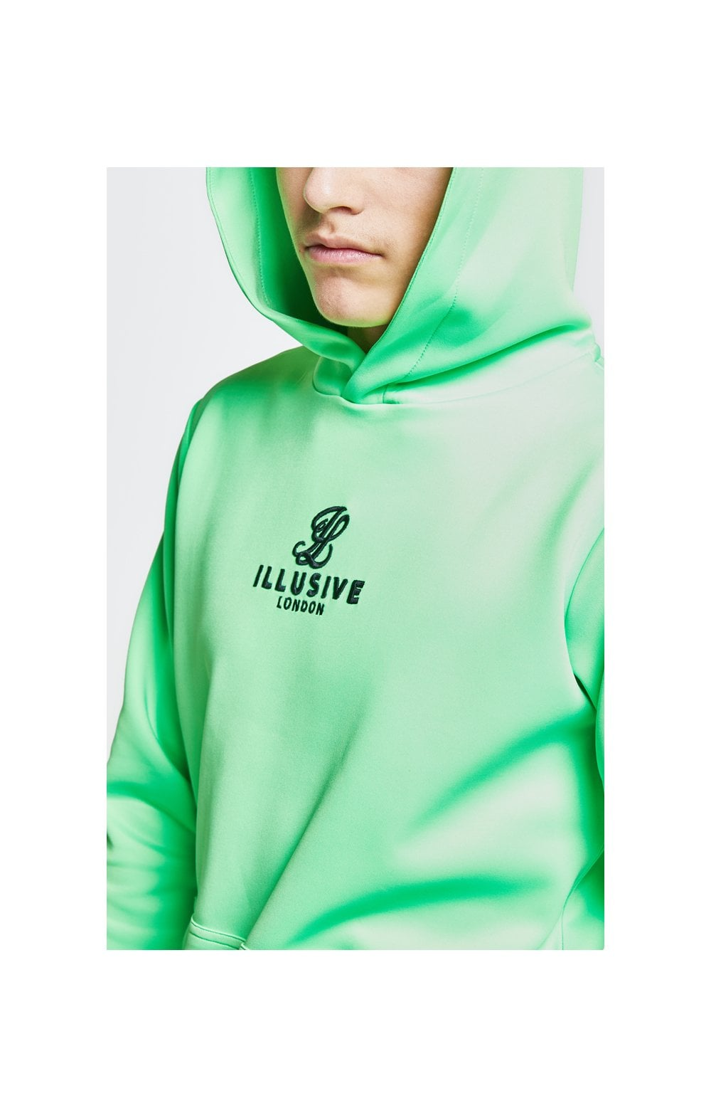 Load image into Gallery viewer, Illusive London Taped Overhead Hoodie - Neon Green (1)