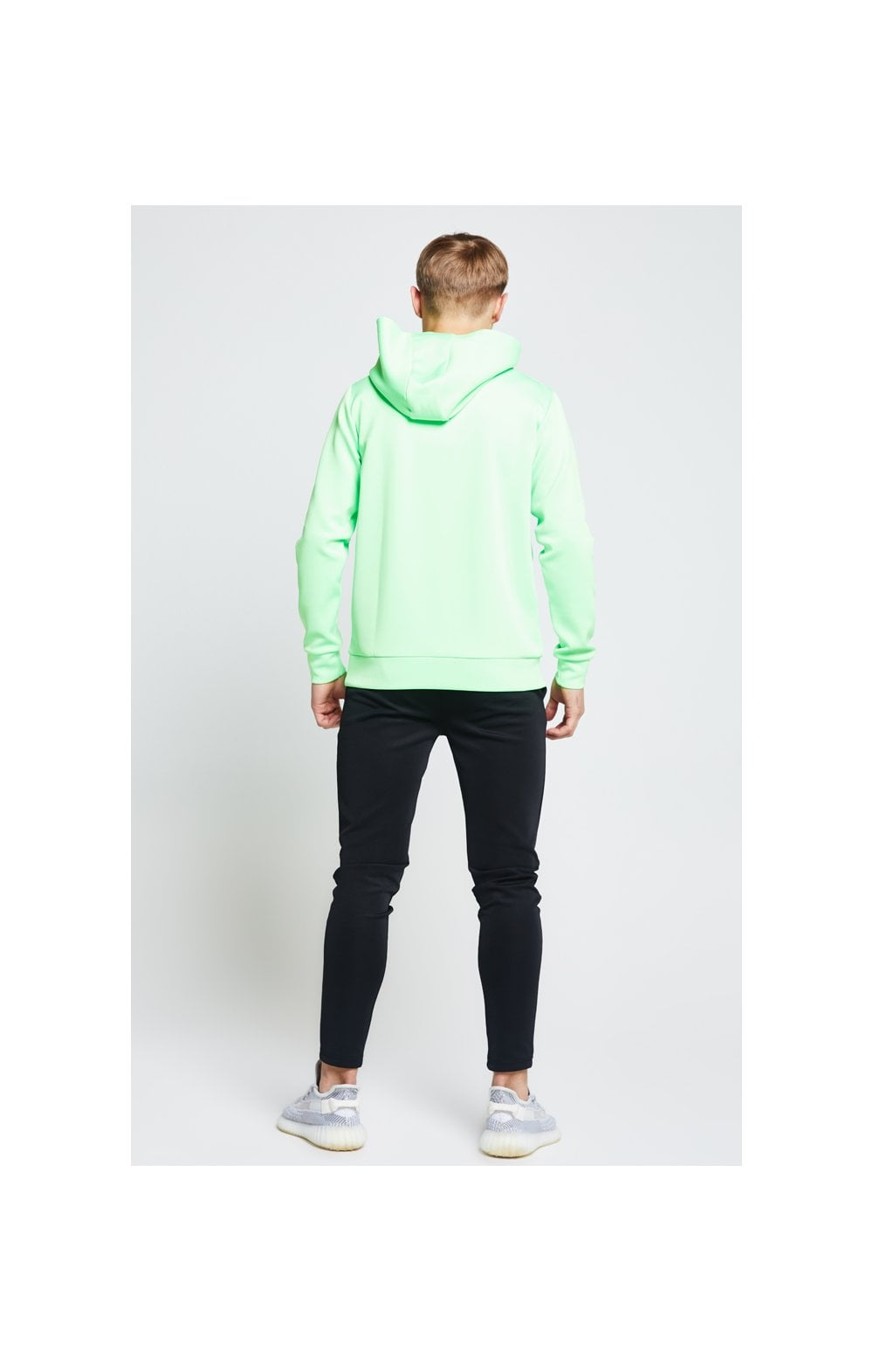 Load image into Gallery viewer, Illusive London Taped Overhead Hoodie - Neon Green (5)