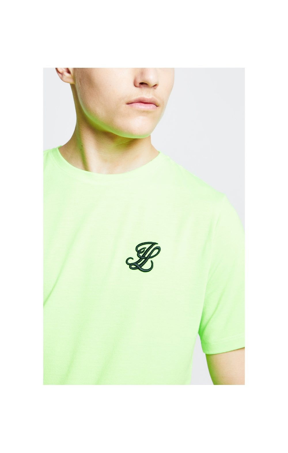 Illusive London S/S Taped Tee – Neon Green