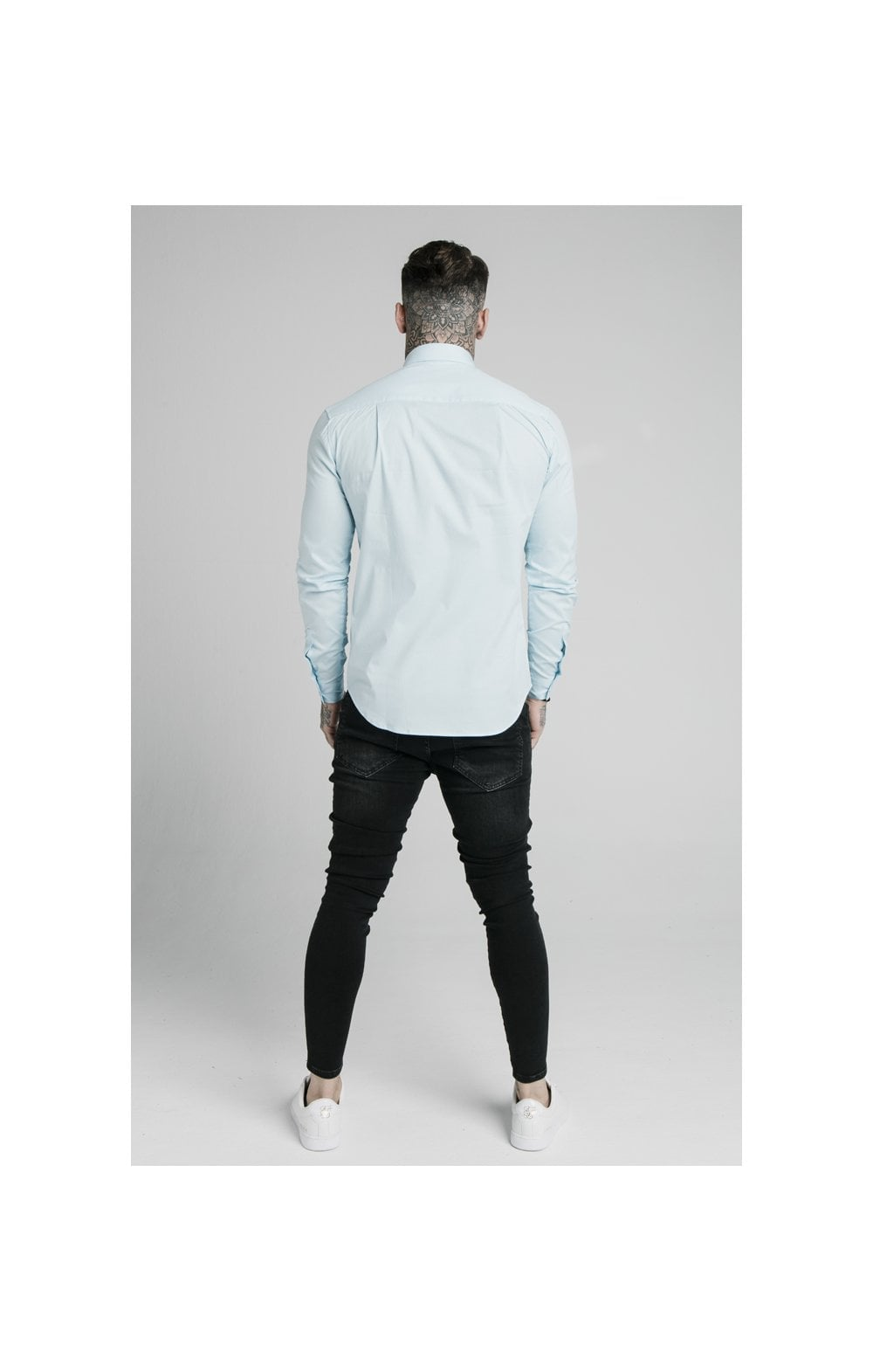 Load image into Gallery viewer, SikSilk L/S Cotton Stretch Shirt - Light Blue (5)