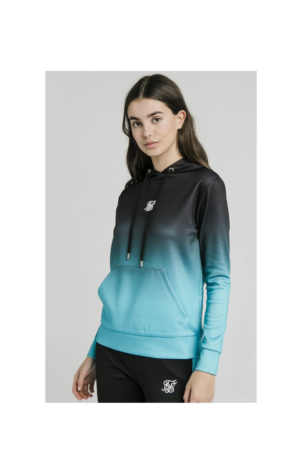 Load image into Gallery viewer, SikSilk Fade Overhead Hoodie - Black & Teal (5)