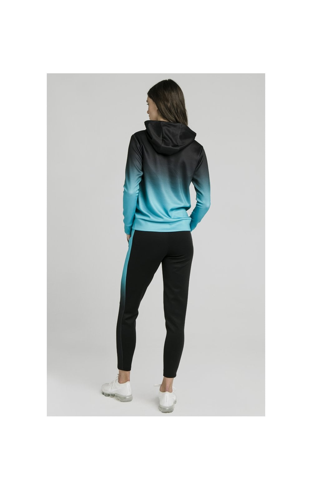 Load image into Gallery viewer, SikSilk Fade Overhead Hoodie - Black & Teal (4)