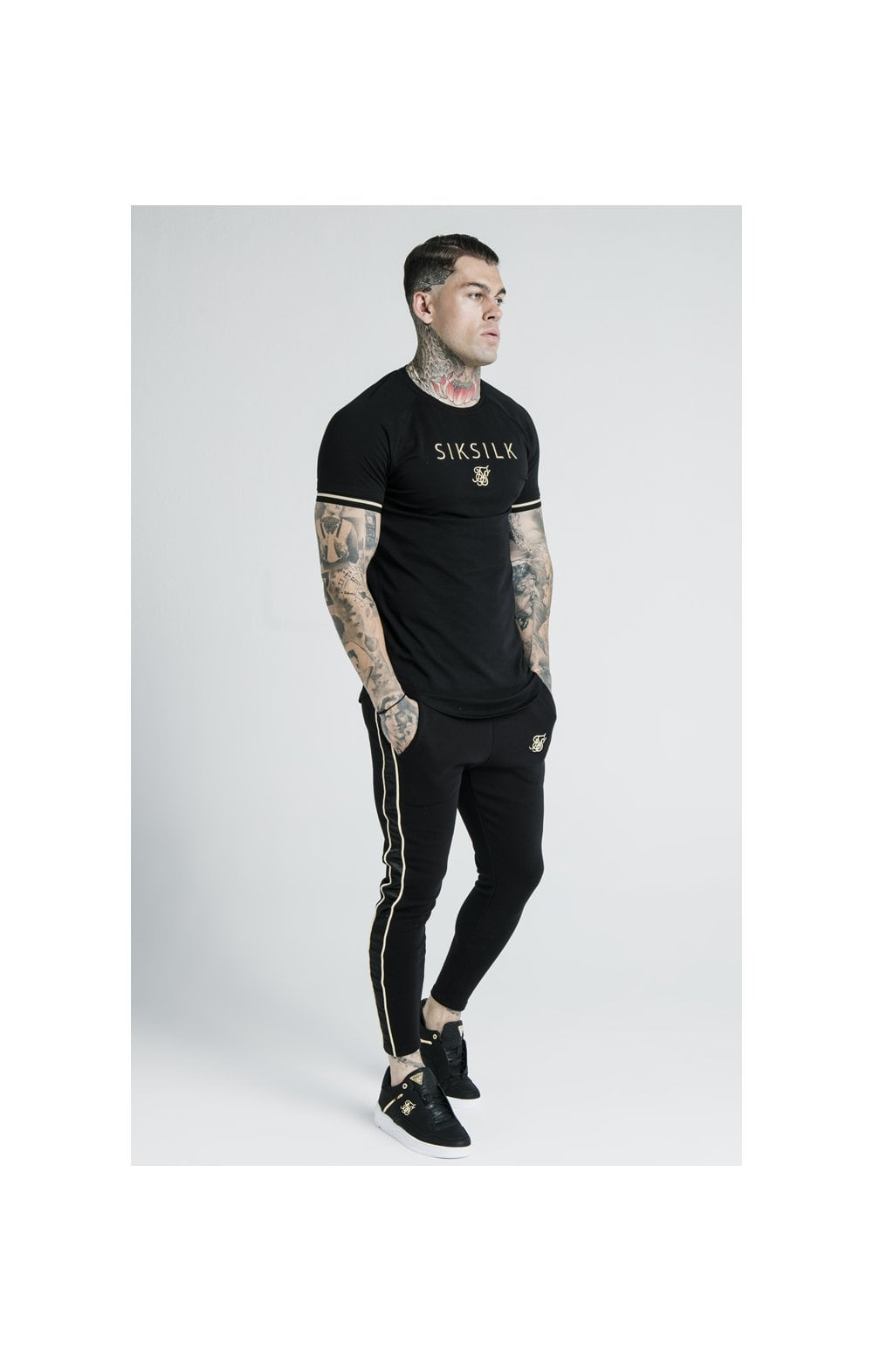 SikSilk X Dani Alves S/S Inset Tech Tee – Black (7)