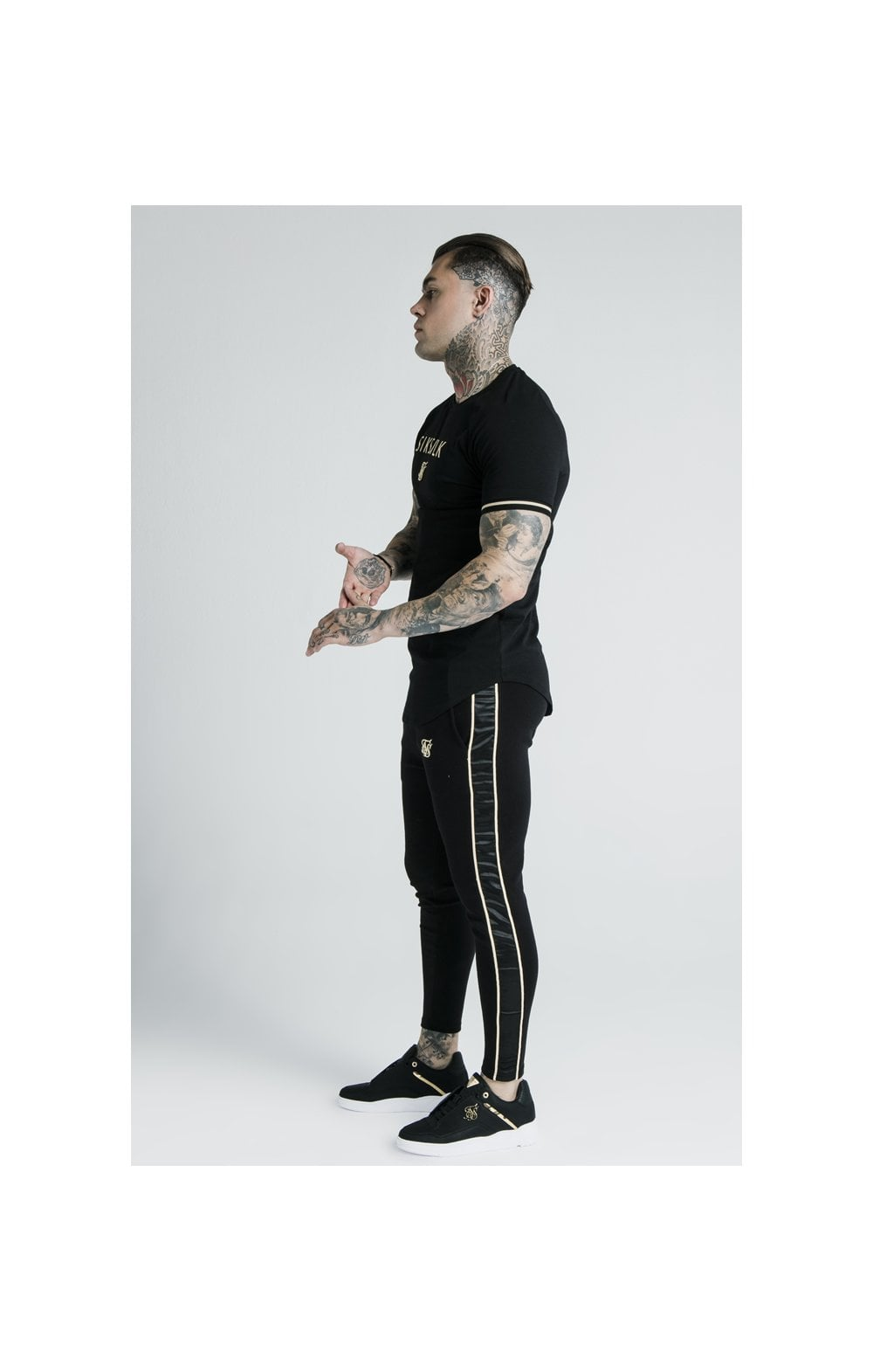Load image into Gallery viewer, SikSilk X Dani Alves S/S Inset Tech Tee – Black (8)