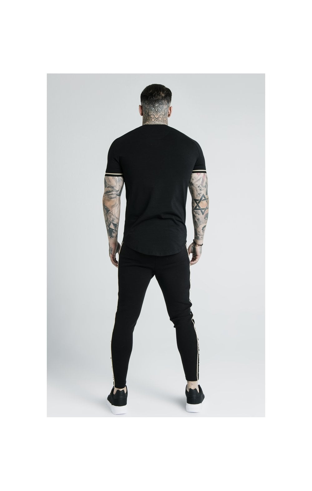 SikSilk X Dani Alves S/S Inset Tech Tee – Black (9)