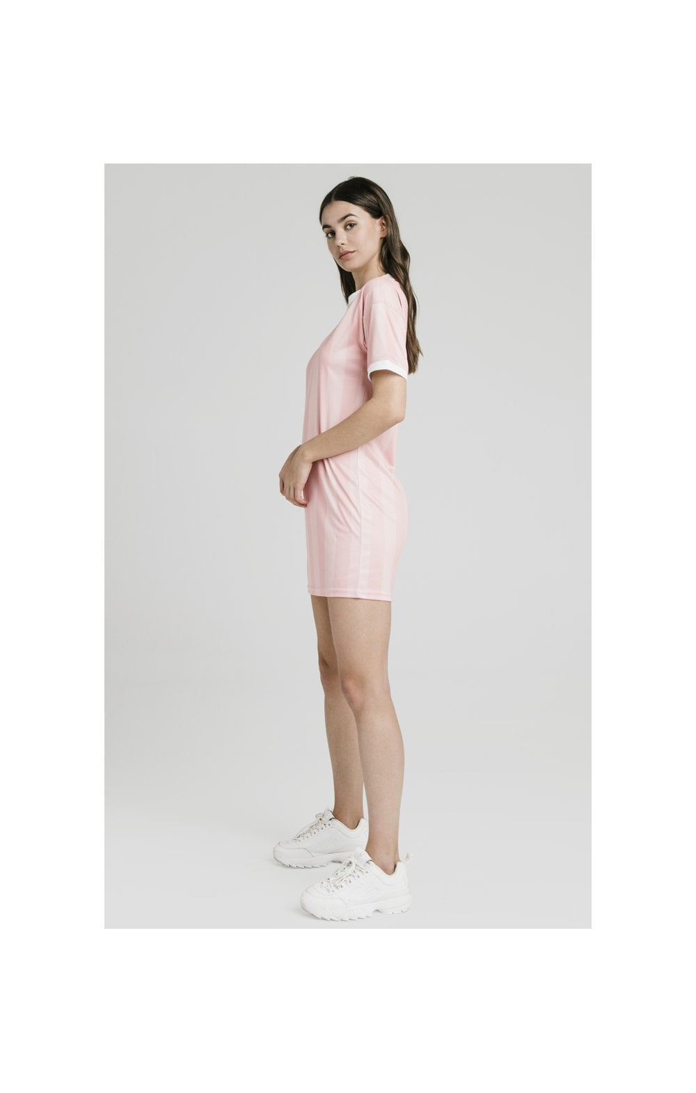 SikSilk Luxury Poly Dress - Apricot Blush (2)