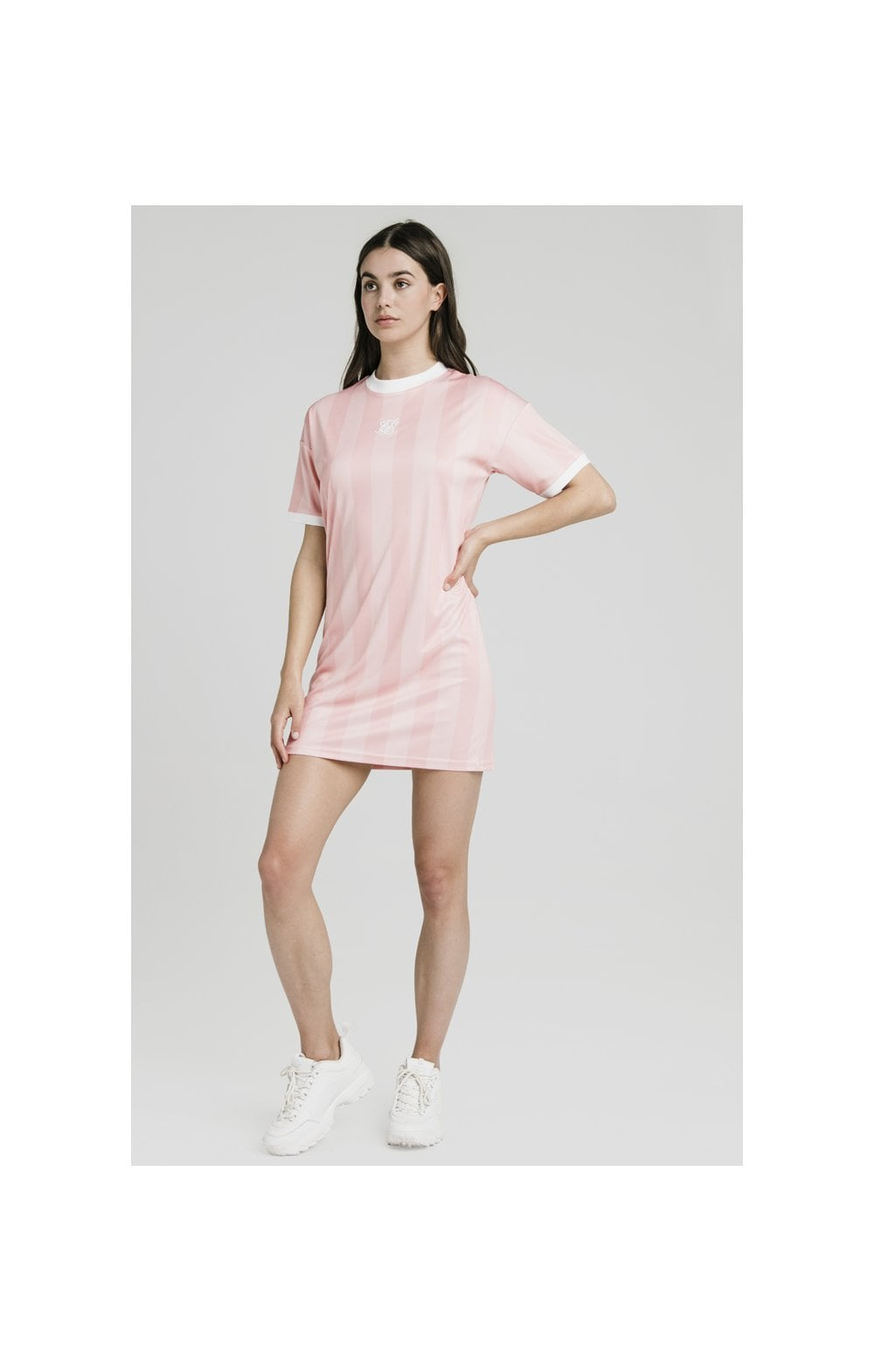 SikSilk Luxury Poly Dress - Apricot Blush (3)