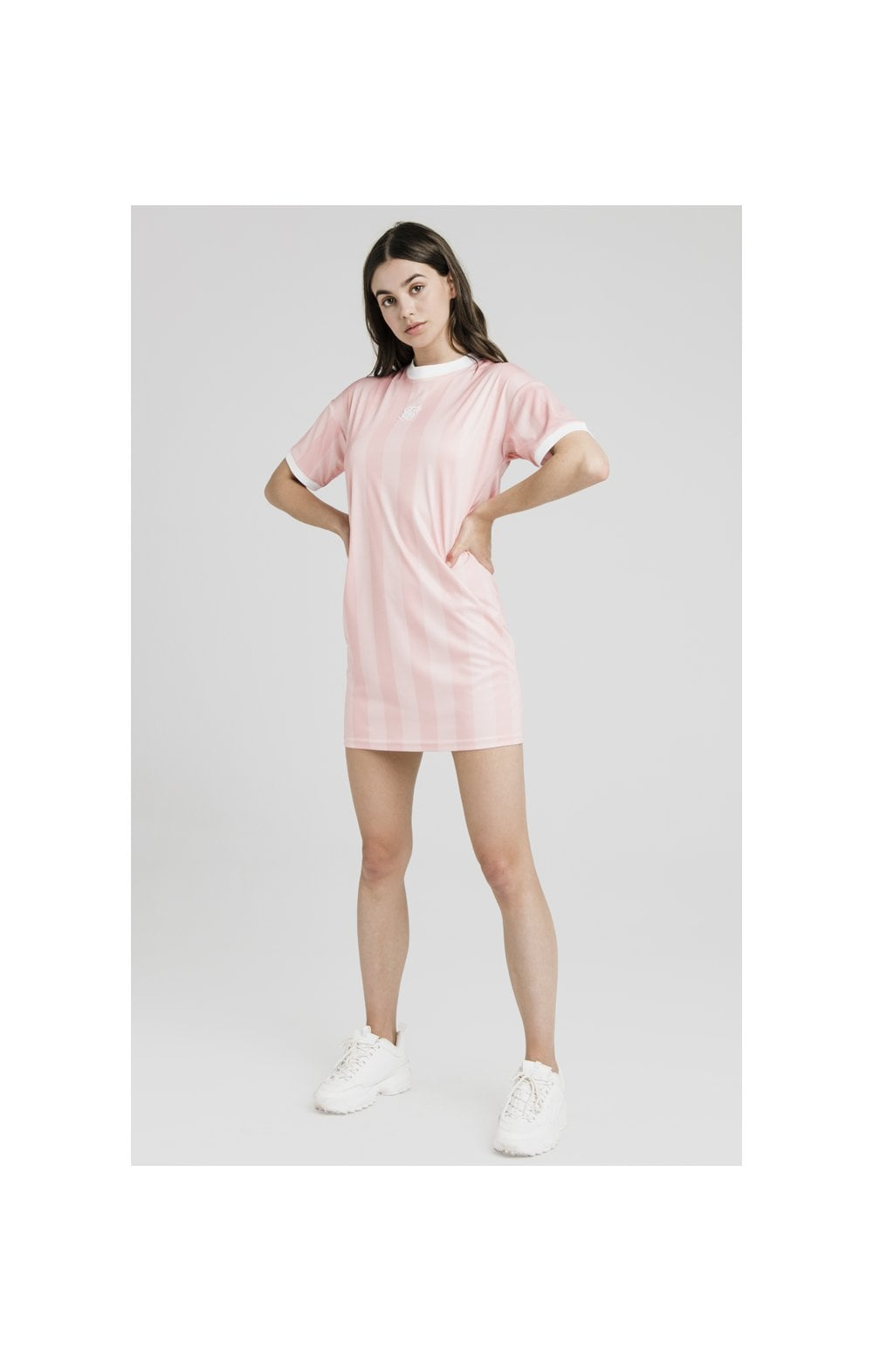 SikSilk Luxury Poly Dress - Apricot Blush (4)