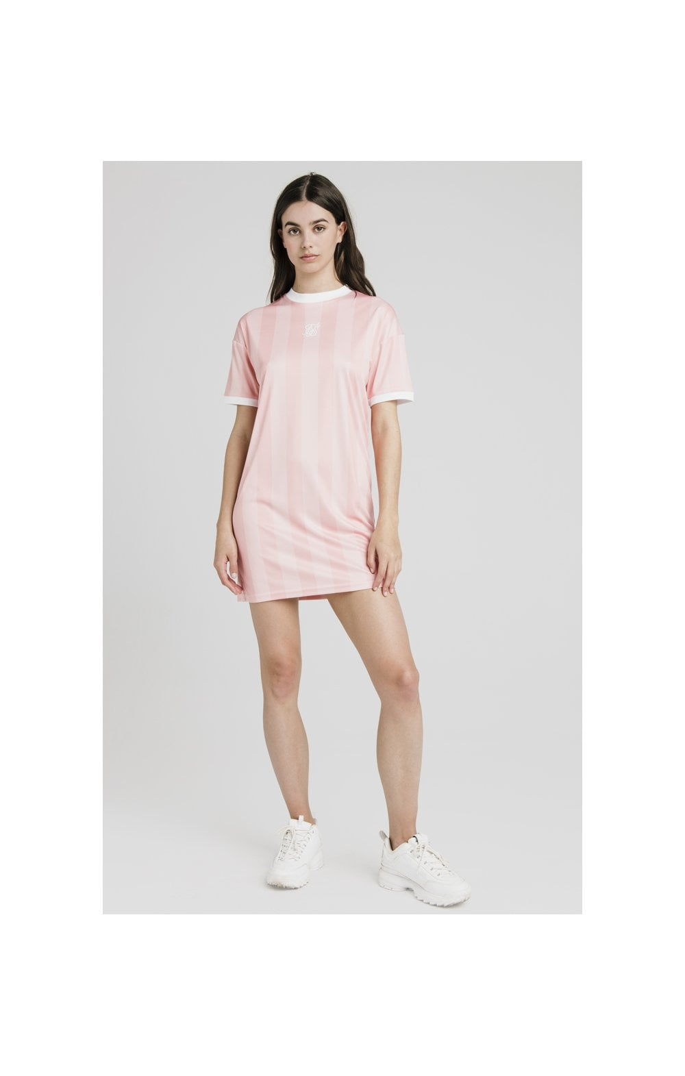 SikSilk Luxury Poly Dress - Apricot Blush (5)