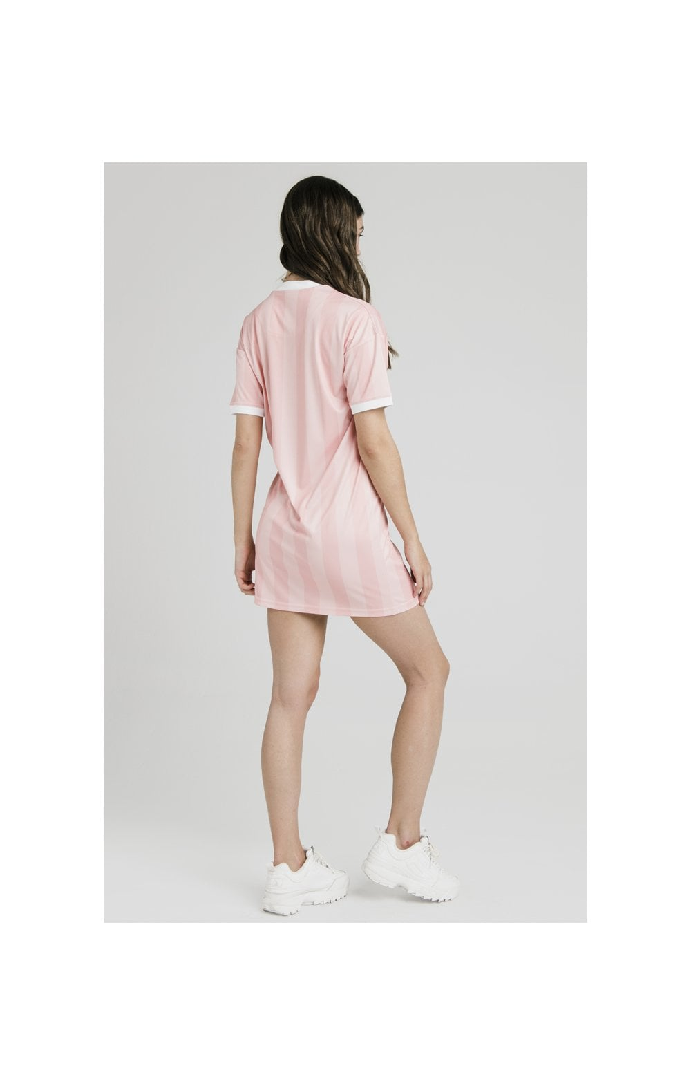 SikSilk Luxury Poly Dress - Apricot Blush (6)