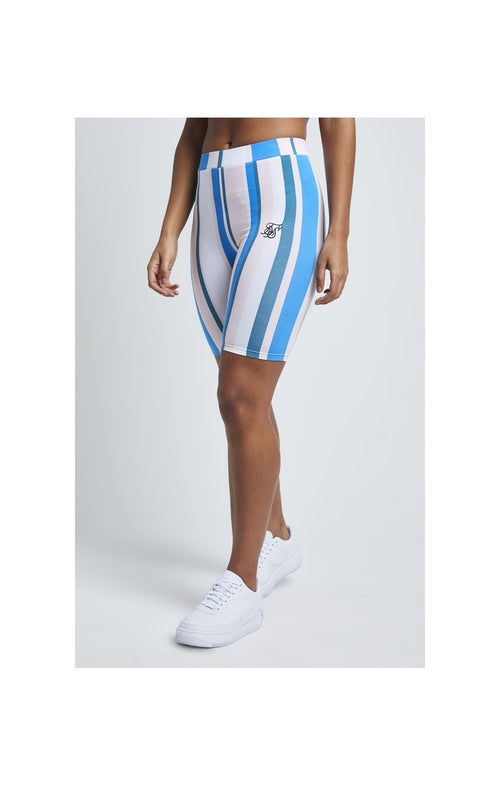 SikSilk 90's Stripe Cycle Shorts - Rotary Stripe