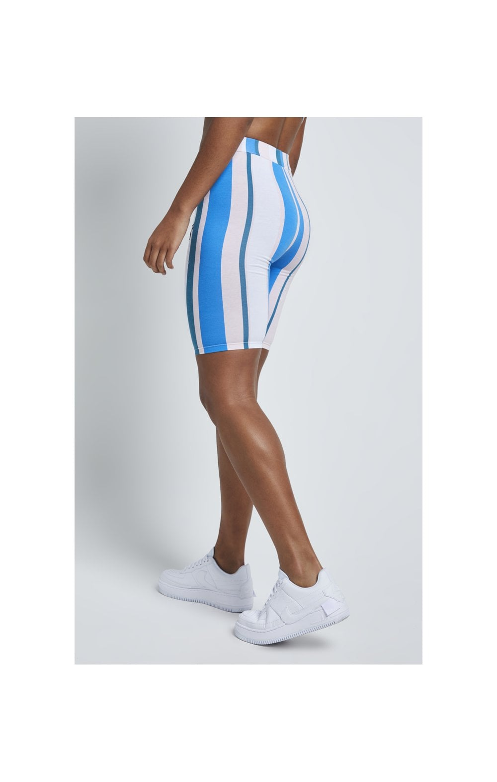 SikSilk 90's Stripe Cycle Shorts - Rotary Stripe (5)