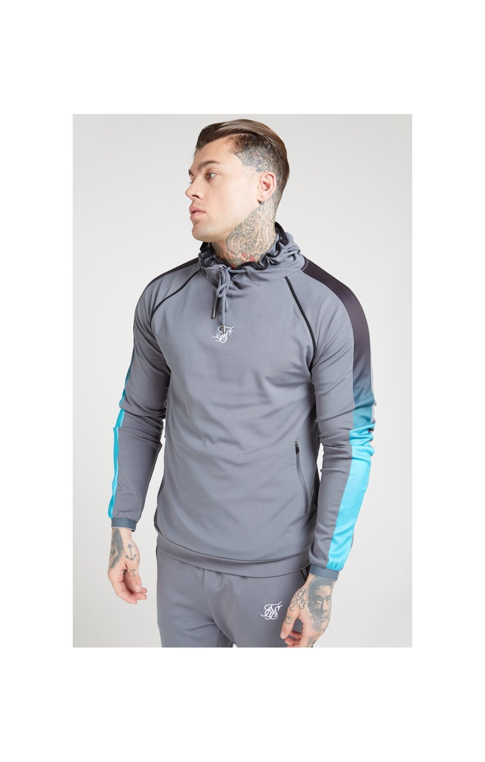 Load image into Gallery viewer, SikSilk Scope Overhead Fade Panel Hoodie – Slate