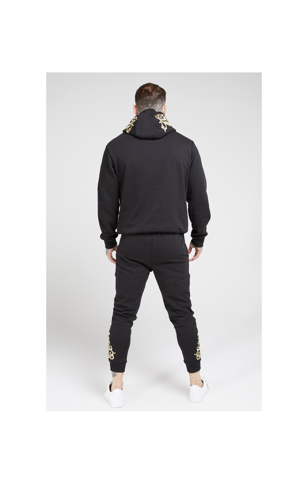 Load image into Gallery viewer, SikSilk Overhead Hoodie – Jet Black & Gold (5)
