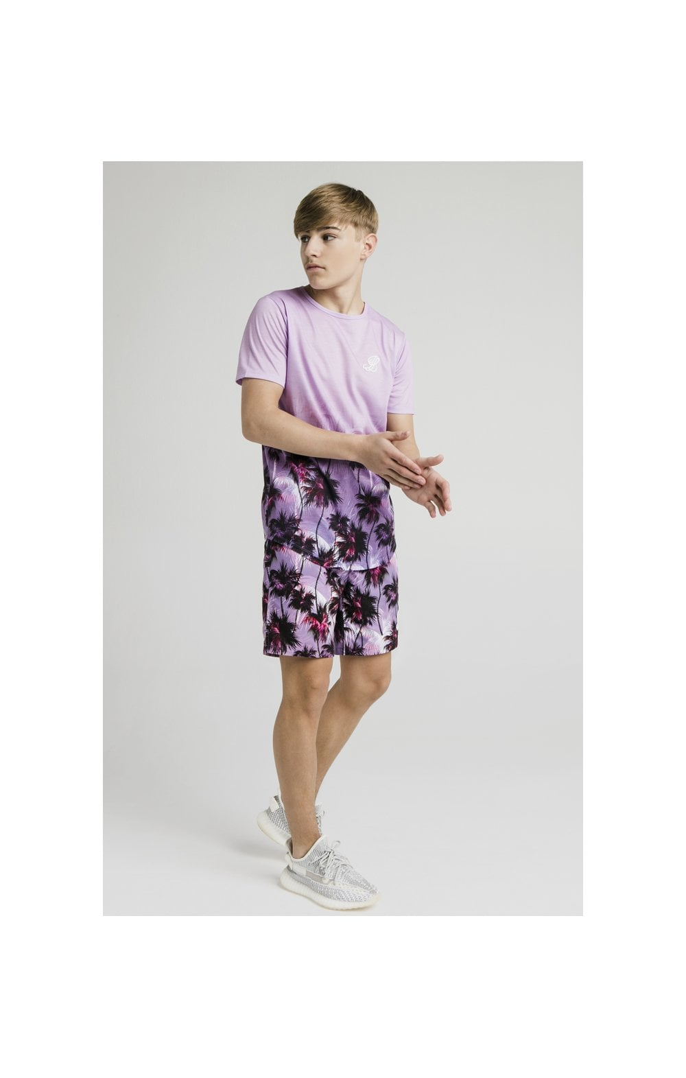 Illusive London Palm Tree Swim Shorts - Purple (3)