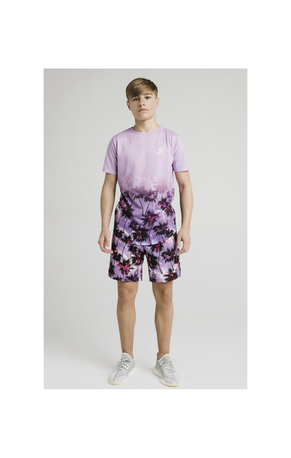 Illusive London Palm Tree Swim Shorts - Purple (4)