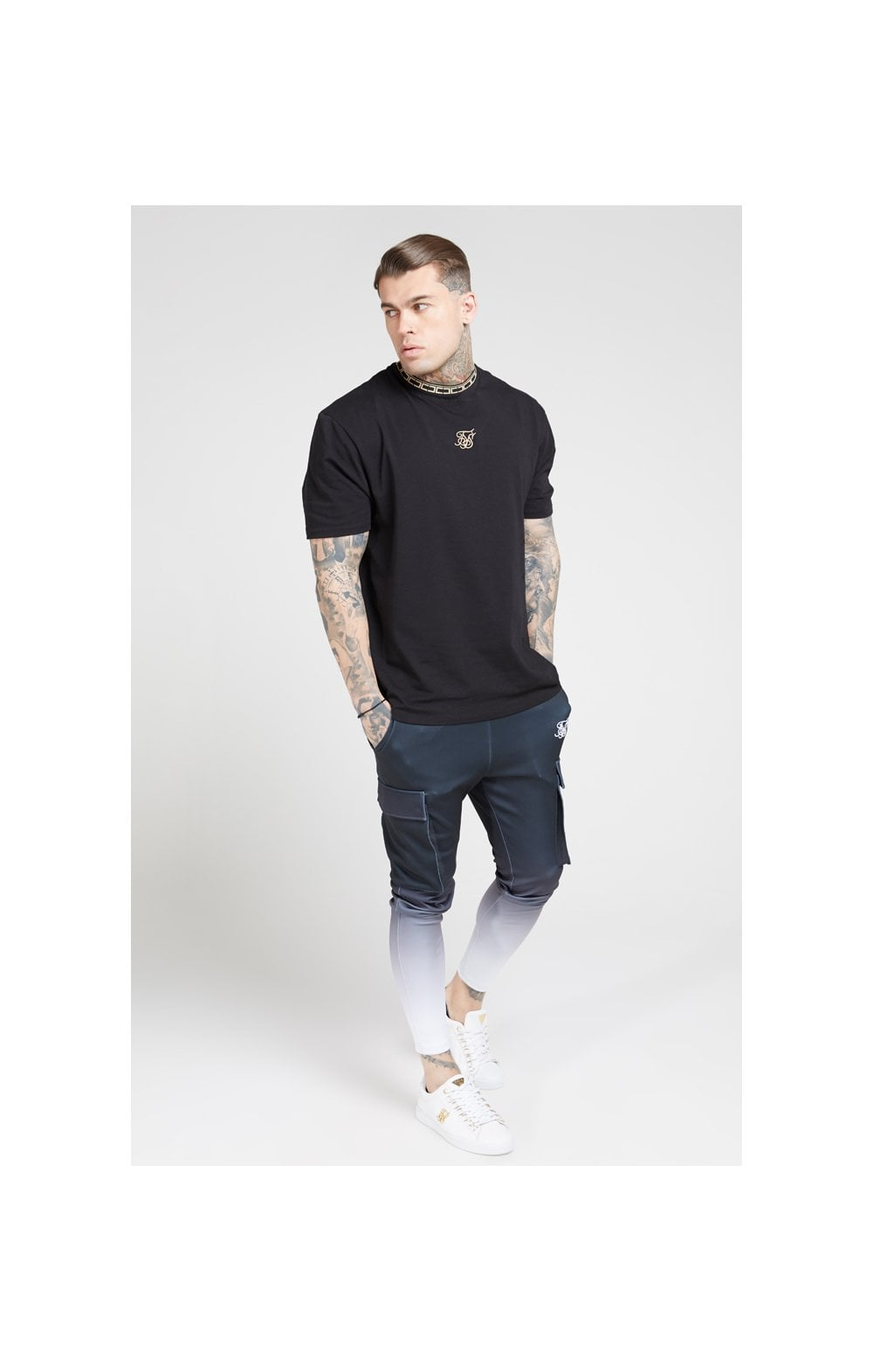 Load image into Gallery viewer, SikSilk Poly Athlete Cargo Pants - Black & White (2)