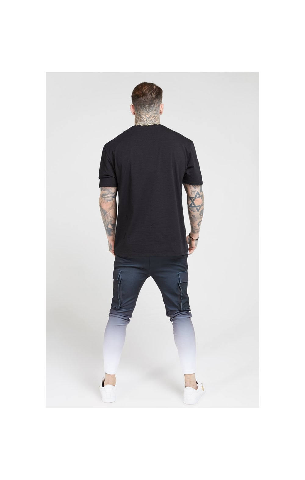 Load image into Gallery viewer, SikSilk Poly Athlete Cargo Pants - Black & White (5)