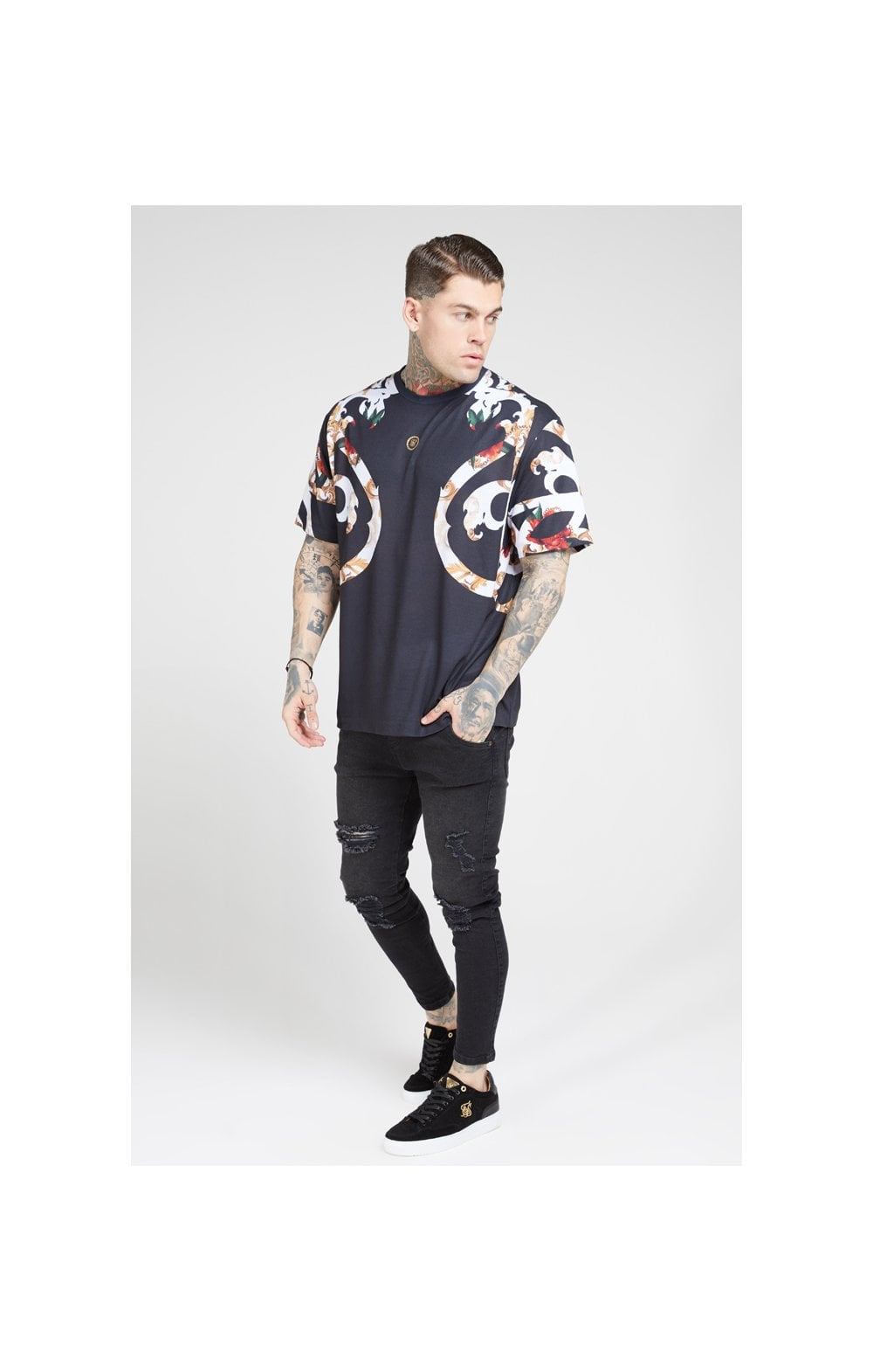 Load image into Gallery viewer, SikSilk Essential Tee - Floral Elegance (2)