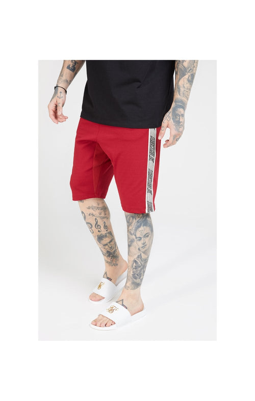 SikSilk Zonal Runner Shorts - Jester Red