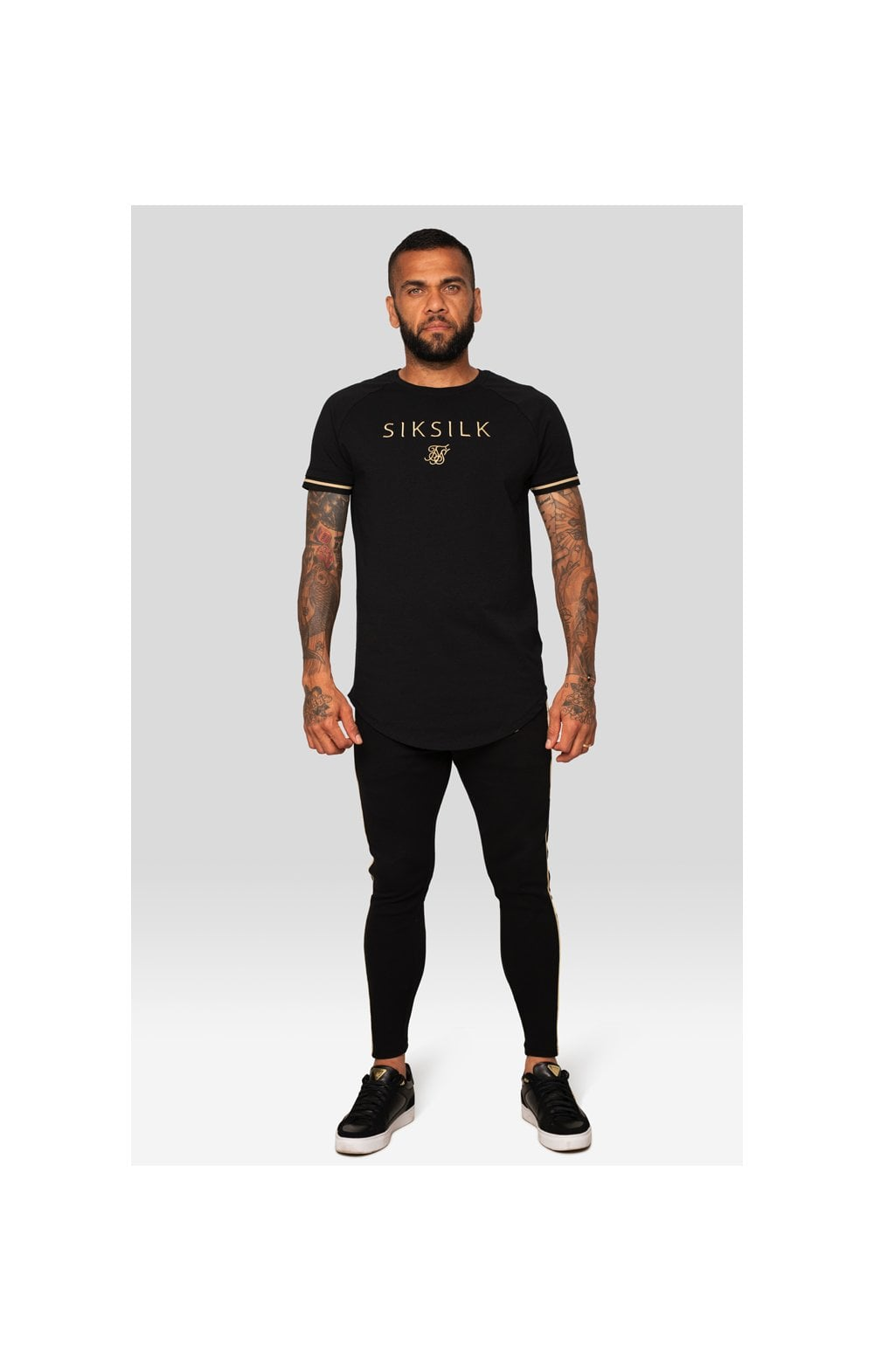 SikSilk X Dani Alves S/S Inset Tech Tee – Black (2)