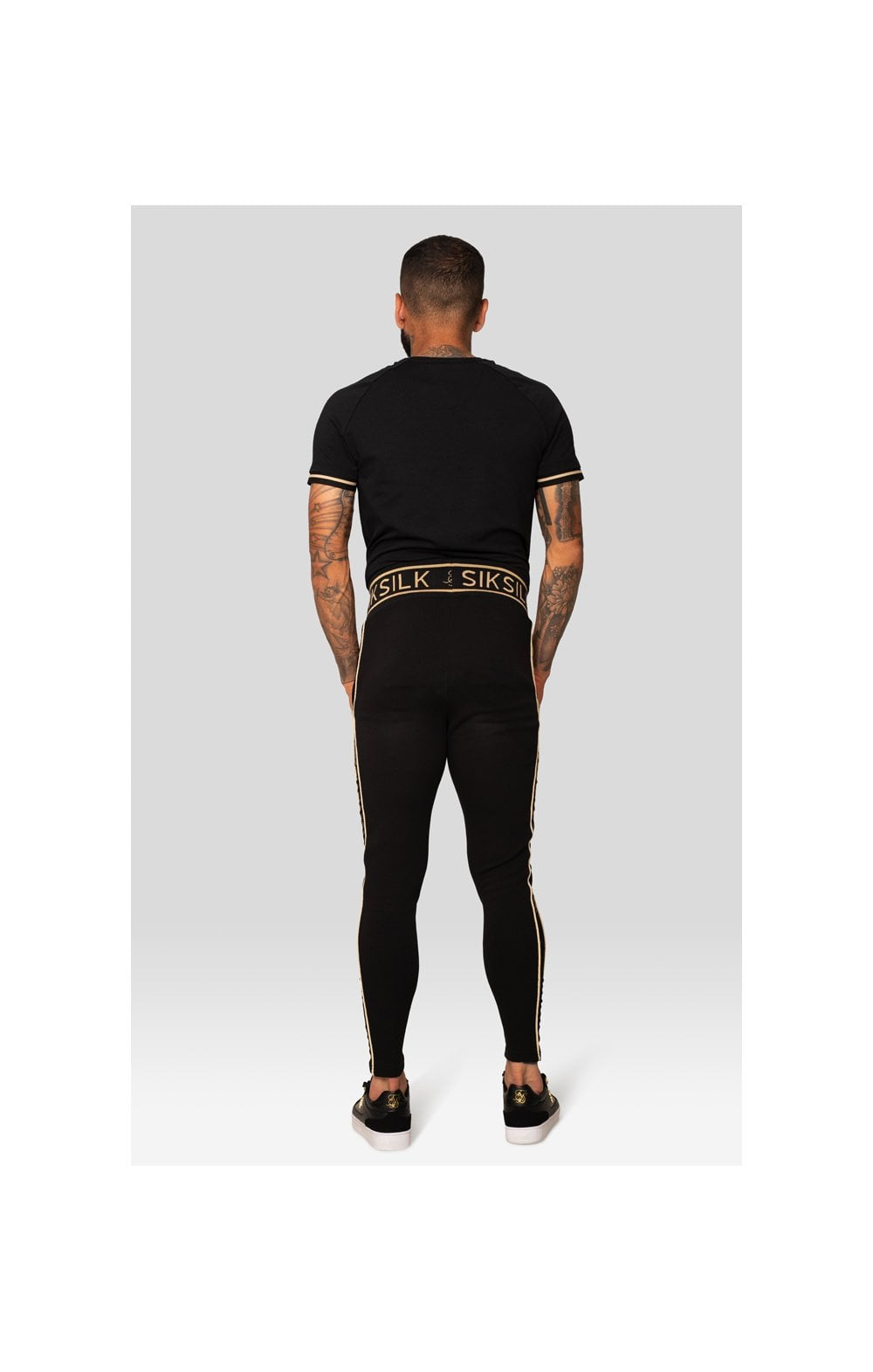 SikSilk X Dani Alves S/S Inset Tech Tee – Black (3)