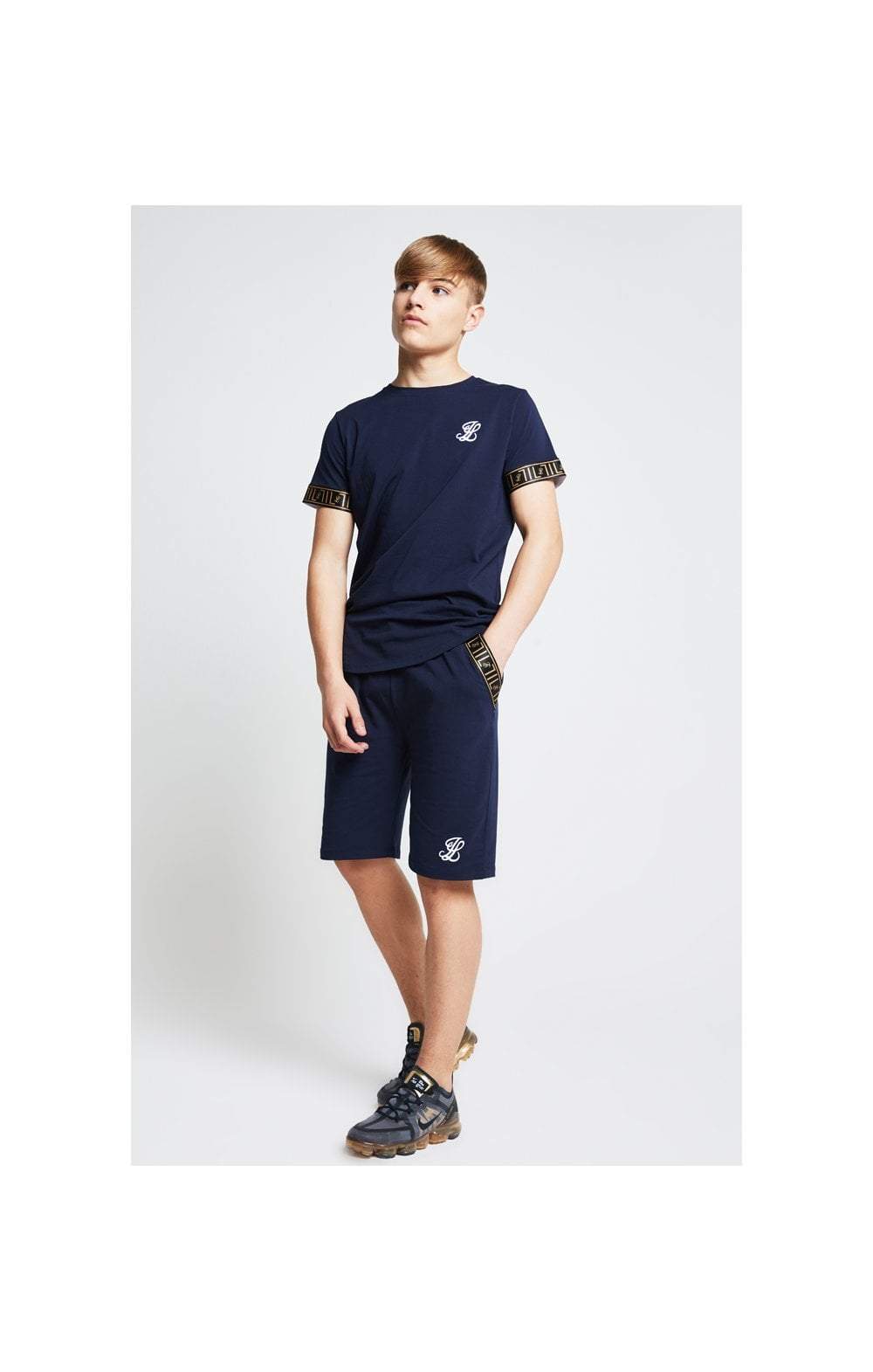 Illusive London Tape Jersey Shorts - Navy (3)