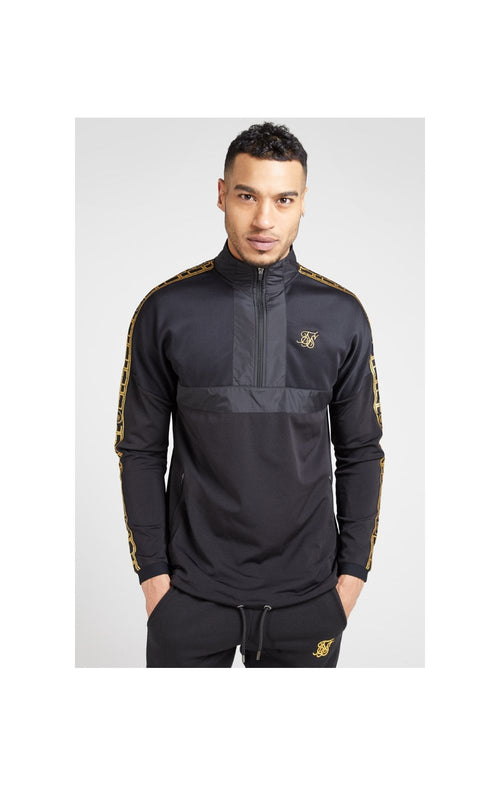 SikSilk Evolution Half Zip Track Top - Black & Gold
