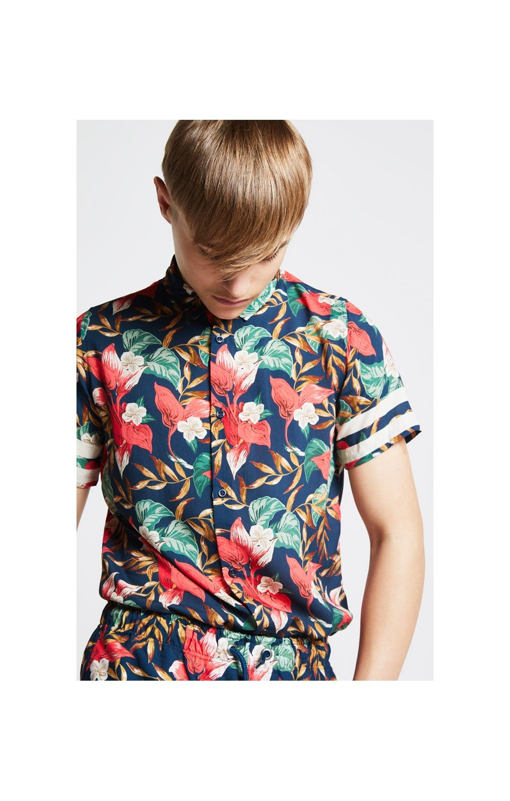 Illusive London Tropical Resort Shirt – Tropical Leaf (1)
