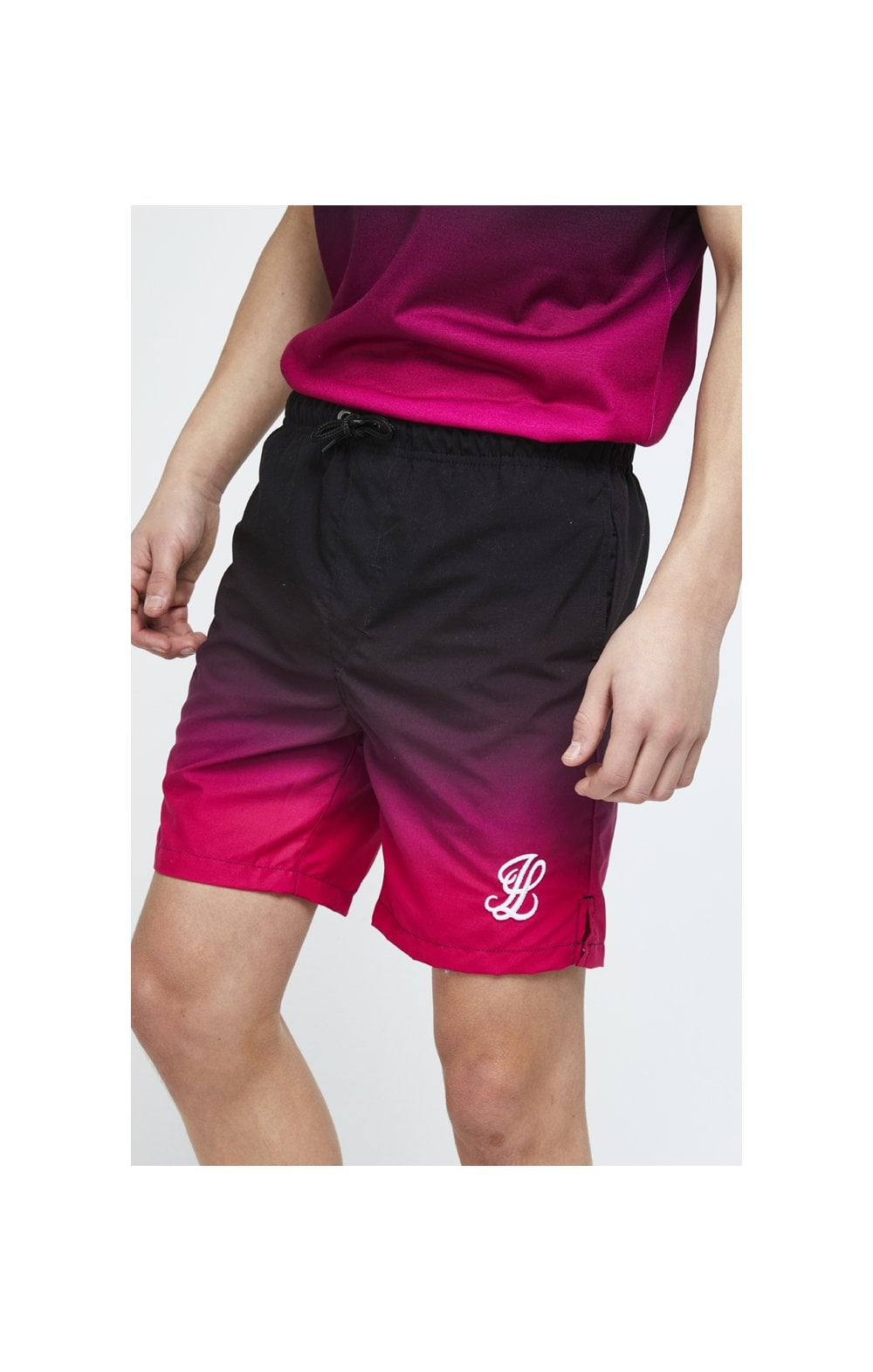 Illusive London Swim Shorts - Black & Pink (4)