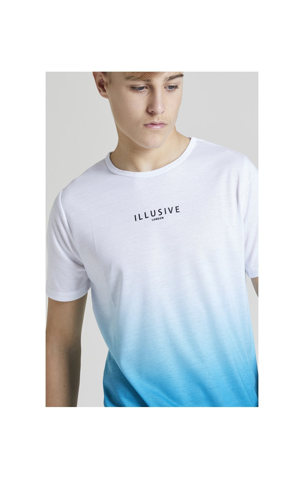 Illusive London Core Fade Tee – White & Teal Green (1)
