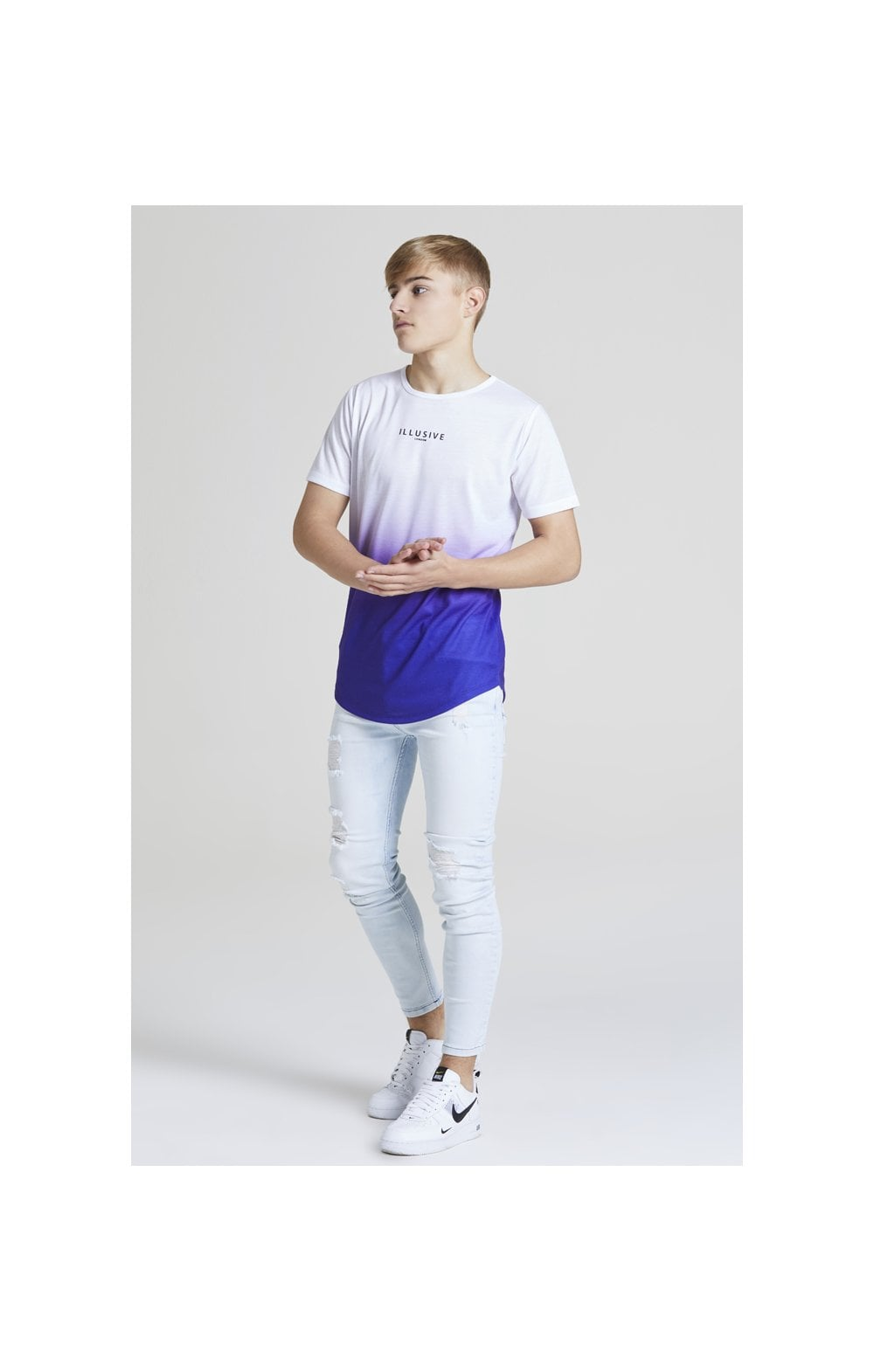 Illusive London Core Fade Tee – White & Purple (3)