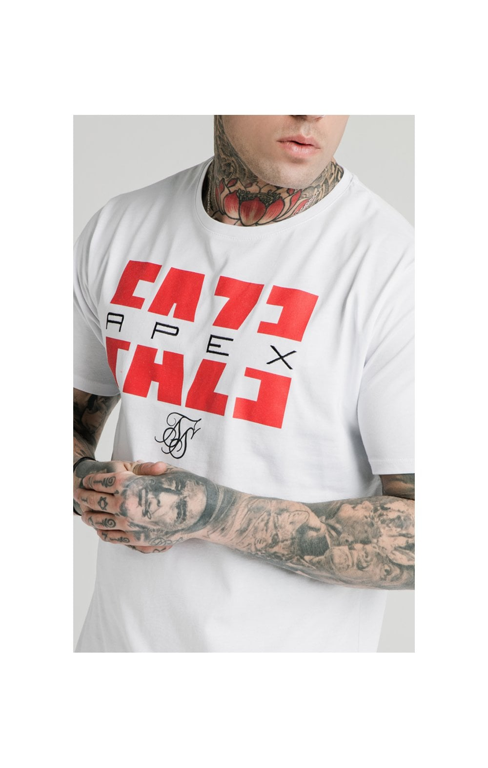 Load image into Gallery viewer, SikSilk x FaZe Apex Standard Square Hem Tee - White (1)