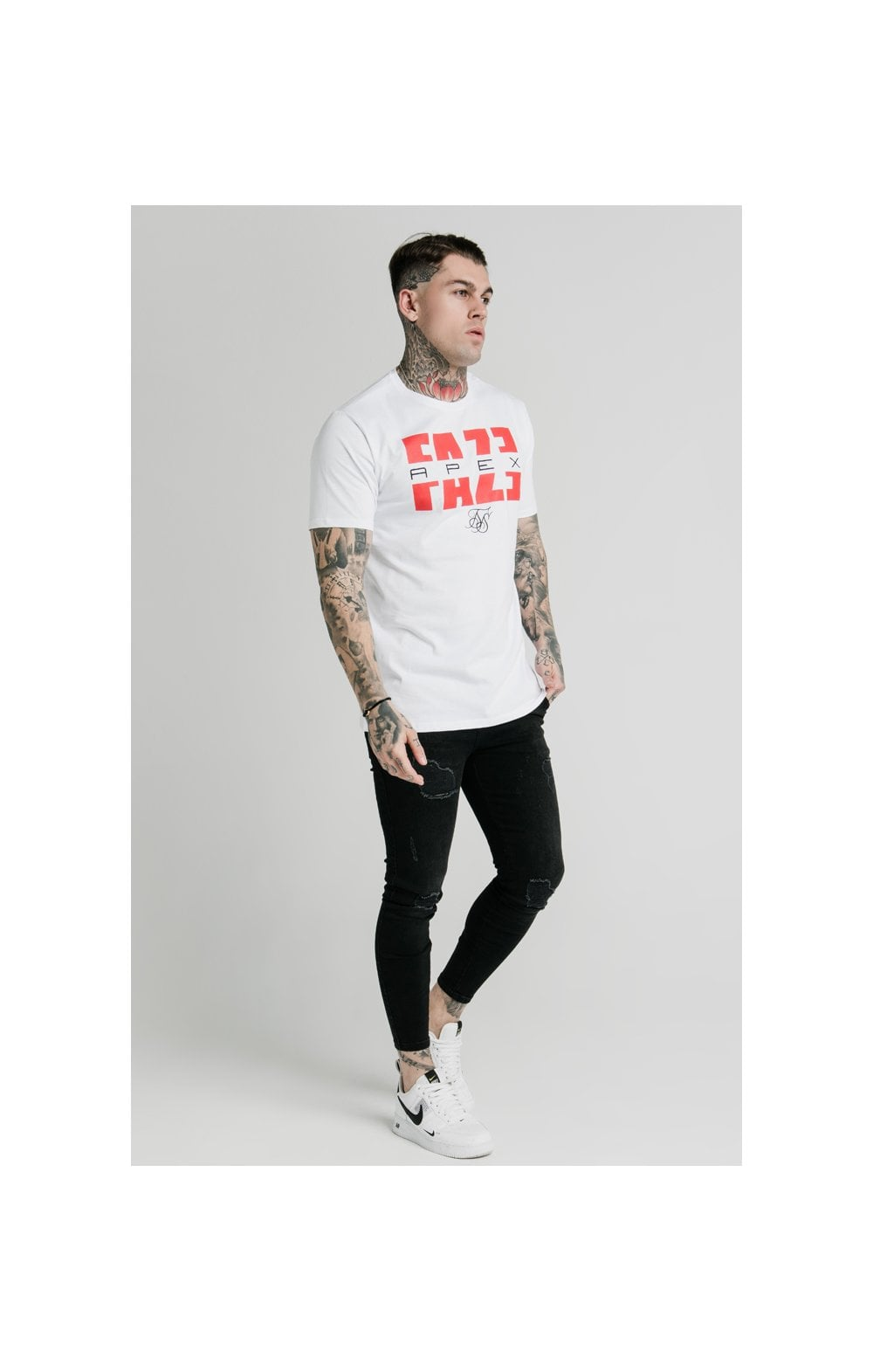 Load image into Gallery viewer, SikSilk x FaZe Apex Standard Square Hem Tee - White (5)