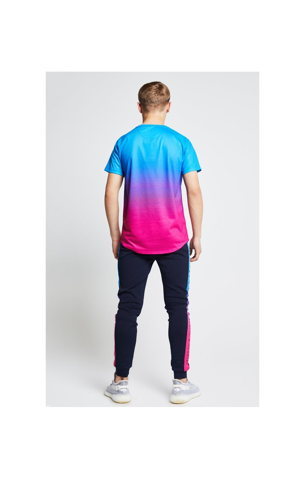 Illusive London Fade Tee - Blue & Pink (5)