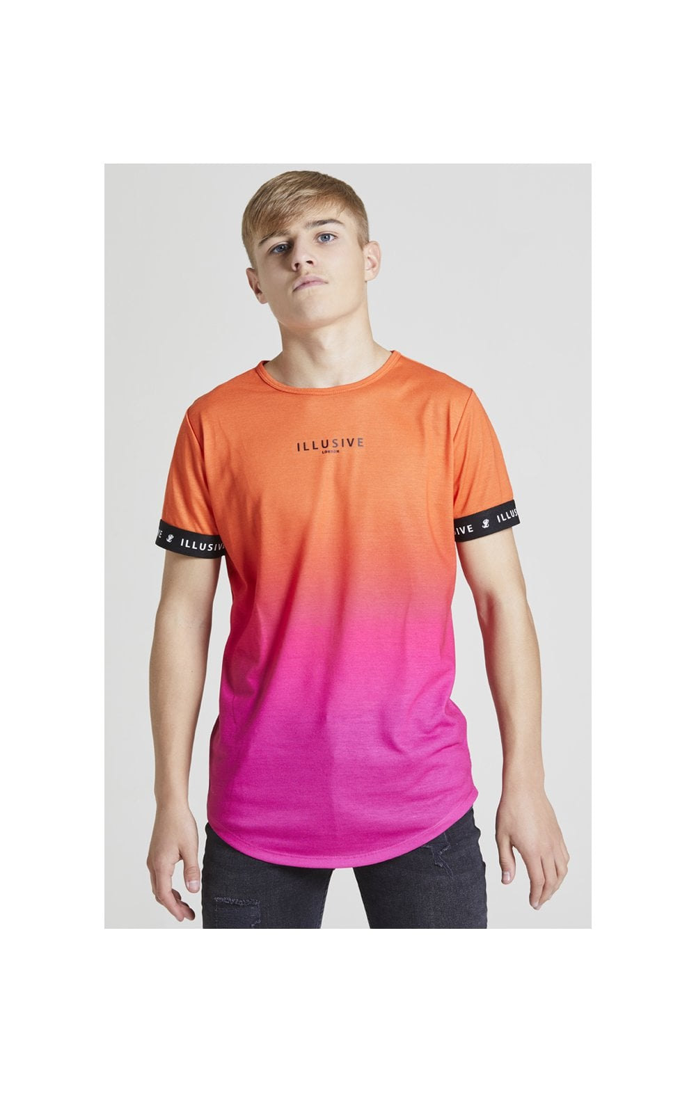 Illusive London Fade Tech Tee - Orange & Pink (1)