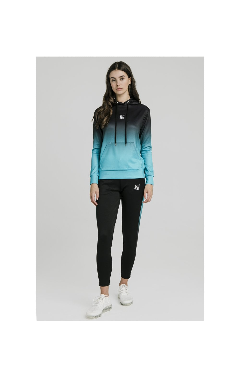 Load image into Gallery viewer, SikSilk Fade Overhead Hoodie - Black & Teal (3)