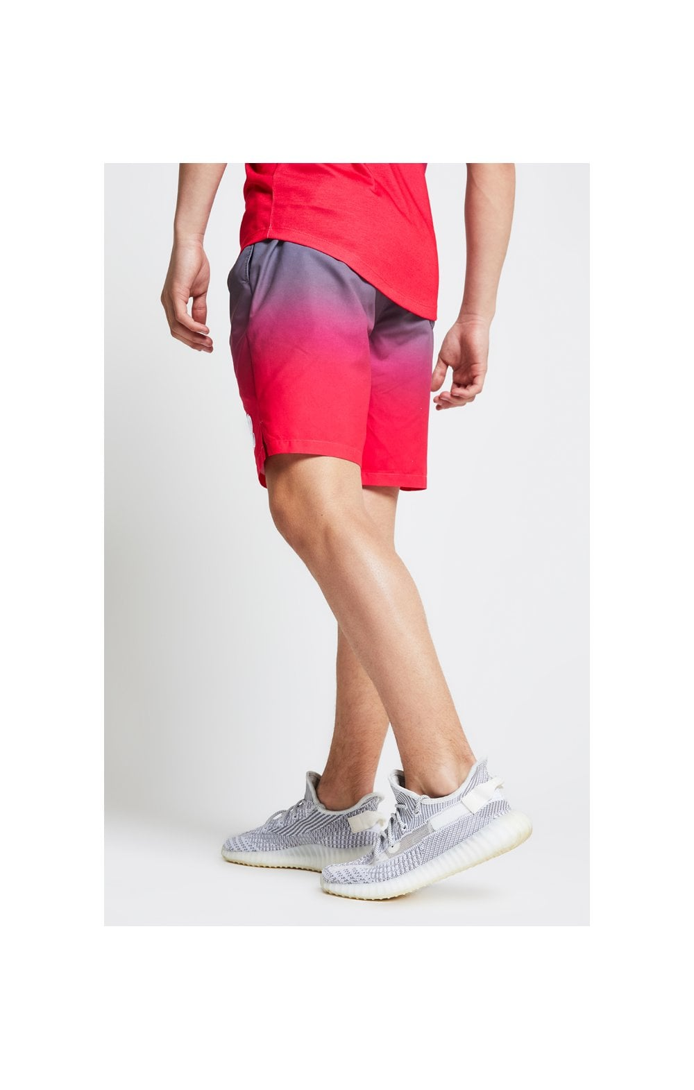 Illusive London Fade Swim Shorts - Grey & Pink (5)
