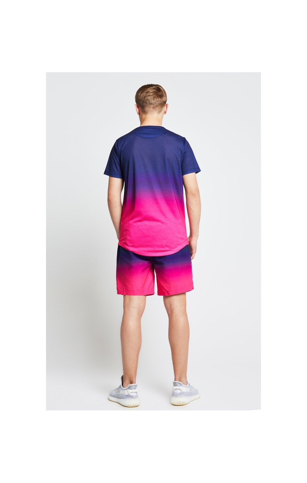 Load image into Gallery viewer, Illusive London Fade Swim Shorts - Navy & Pink (4)
