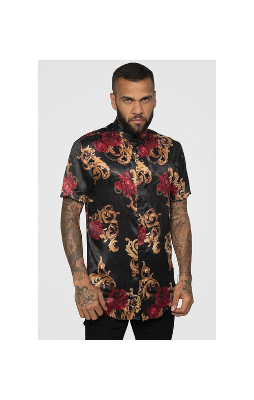 SikSilk x Dani Alves Resort Shirt - Floral Animal