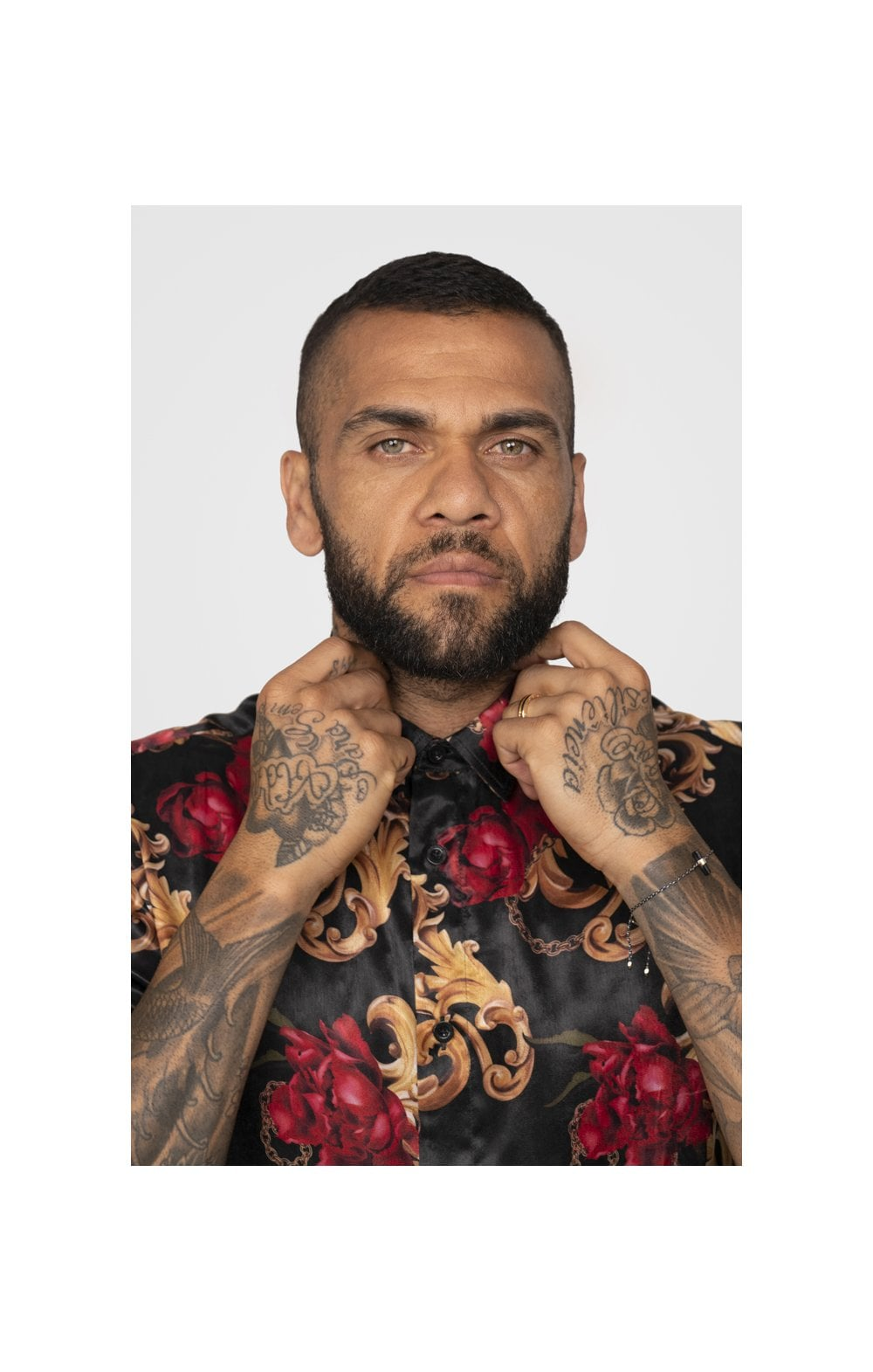 SikSilk x Dani Alves Resort Shirt - Floral Animal (1)